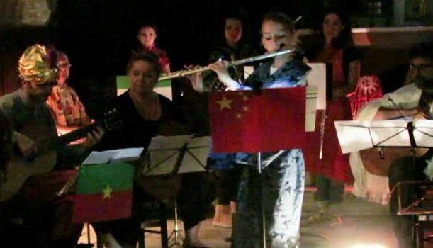 Flûte traversière et guitare en concert à à la chapelle Bongarant