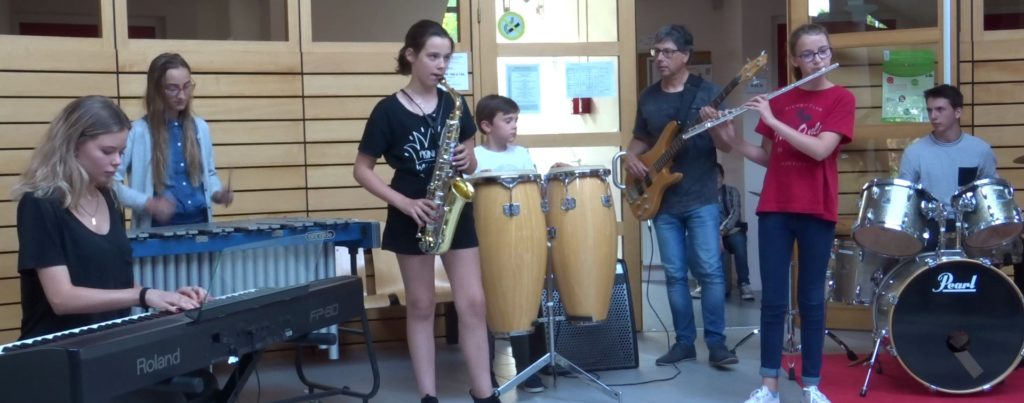 audition du 14/06/2018 : ensemble saxo, flûte, piano, batterie, percussion, basse, vibraphone