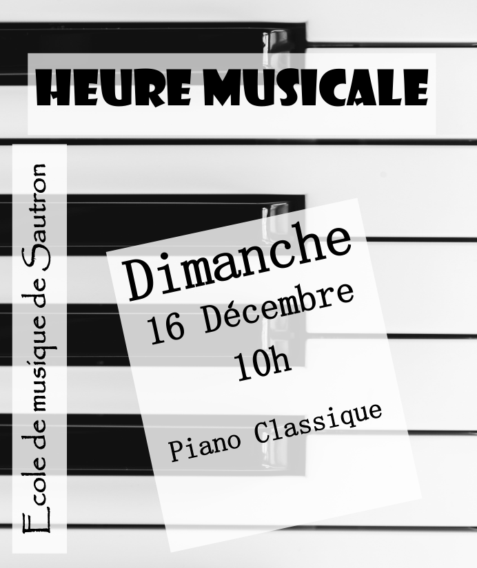 annonce audition piano