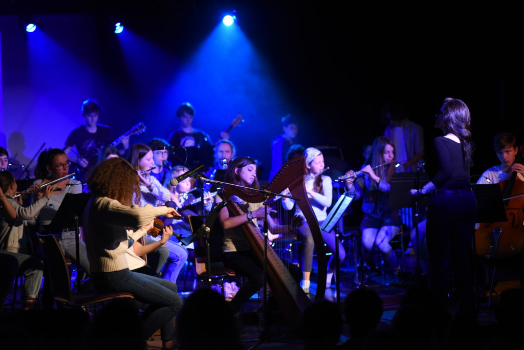 Le Melting Pot Orchestra interprétant l'ouverture du Grand Bleu, de Eric Serra, le 30/03/2019