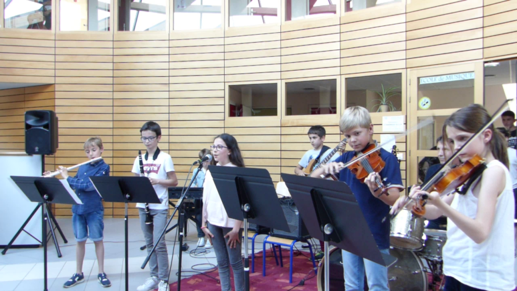 concert de l'ensemble Enfants de l'école de musique, en juin 2019