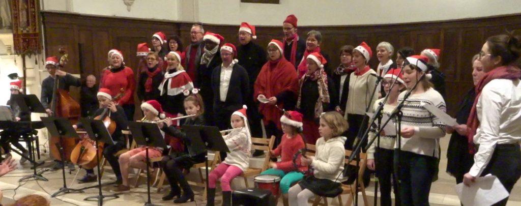 Concert de Noël à l'église de Sautron, le 18/12/2017