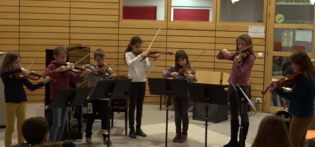 Ensemble de violons, le 20/12/2017