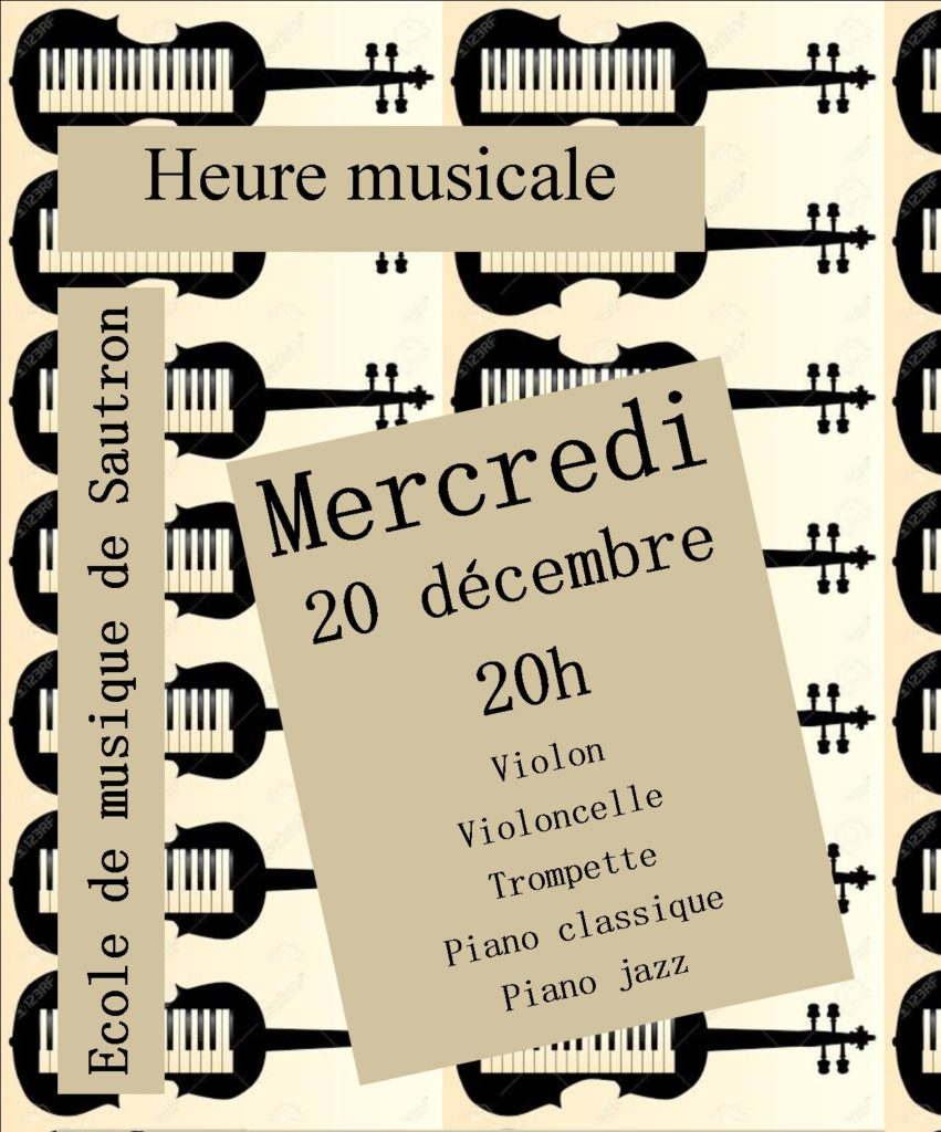 Concert à l'école de musique de Sautron, le 20/12/2017
