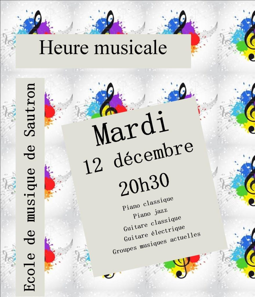 concert du 12/12/2017 : piano, piano jazz, guitare, groupe musiques actuelles