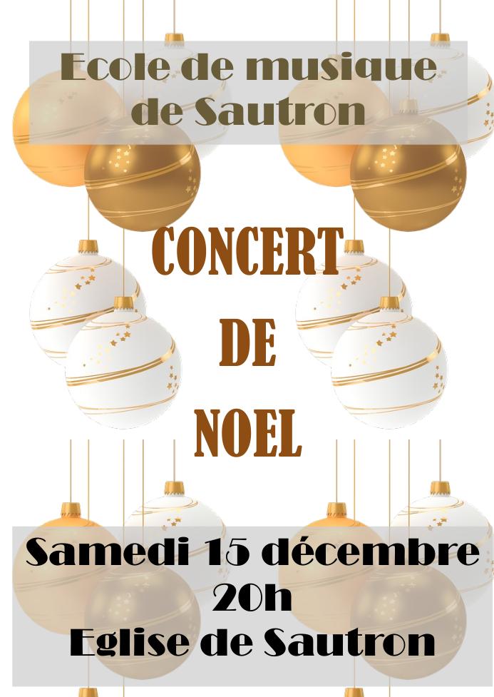 Affiche du concert de Noël 2018