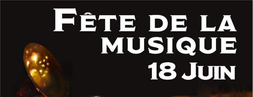 affiche de la fête de la musique à Sautron, le 18 juin 2021